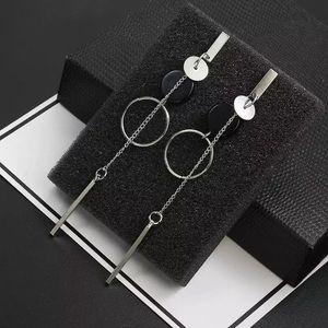 Fashion Silver Long Earrings